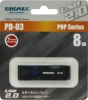 Флешка (Flash-drive) USB 2.0, 8Гб, Kingmax U-Drive PD-03, 10/3Мб/с, пластик, черная фото