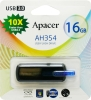 Флешка (Flash-drive) USB 3.0, 16Гб, Apacer AH354, 35/20Мб/с, пластик, черная фото