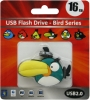 Флешка (Flash-drive) USB 2.0, 16Гб, Green Birds, 15/8Мб/с, резина, зеленая фото