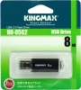 Флешка (Flash-drive) USB 2.0, 8Гб, Kingmax UD-05, 20/10Мб/с, металл, черная фото