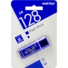 Флешка (Flash-drive) USB 3.0, 128Гб, SmartBuy Glossy, 70/10 Мб/с, пластик, темно-синяя фото