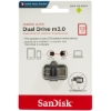 Флешка (Flash-drive) USB 3.0/microUSB, 128Гб, SanDisk Dual Drive Ultra, 150/40Мб/с, пластик, серая фото