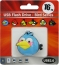 Флешка (Flash-drive) USB 2.0, 16Гб, Blue Birds, 15/8Мб/с, резина, голубая фото 1